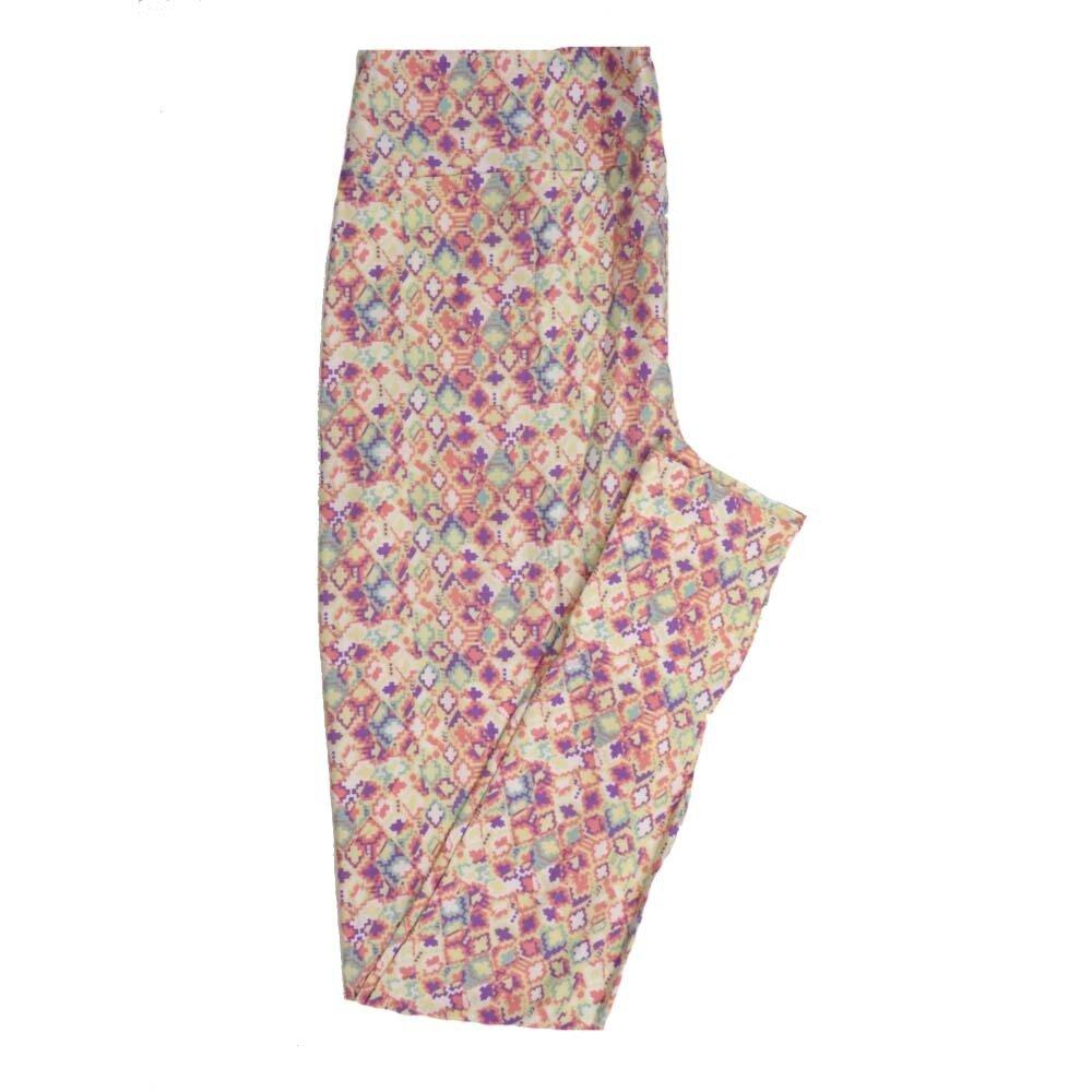LuLaRoe Tall Curvy TC Geometric Buttery Soft Womens Leggings fits Adults sizes 12-18  TC-7358-E
