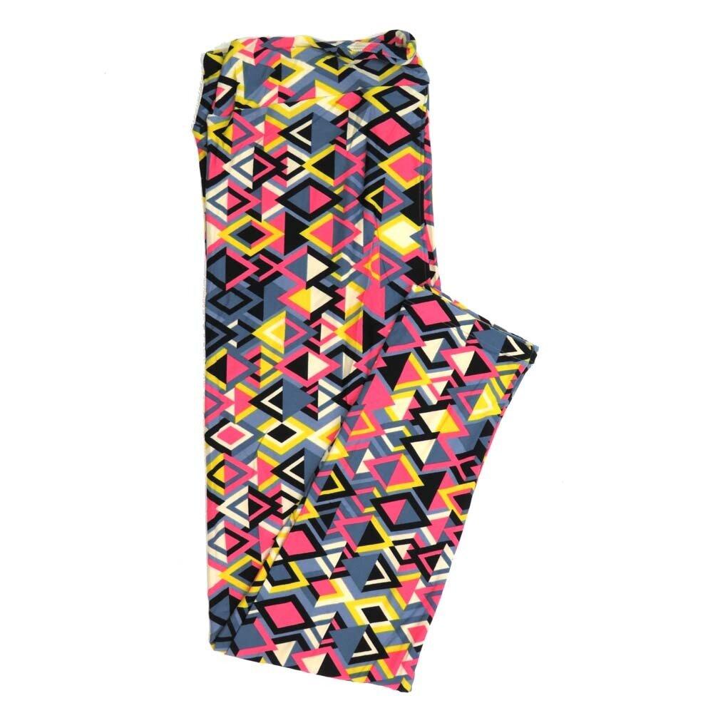 LuLaRoe Tall Curvy TC Geometric Buttery Soft Womens Leggings fits Adults sizes 12-18  TC-7358-G