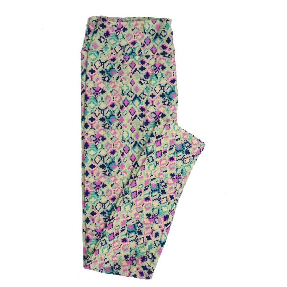 LuLaRoe Tall Curvy TC Geometric Buttery Soft Womens Leggings fits Adults sizes 12-18  TC-7358-I