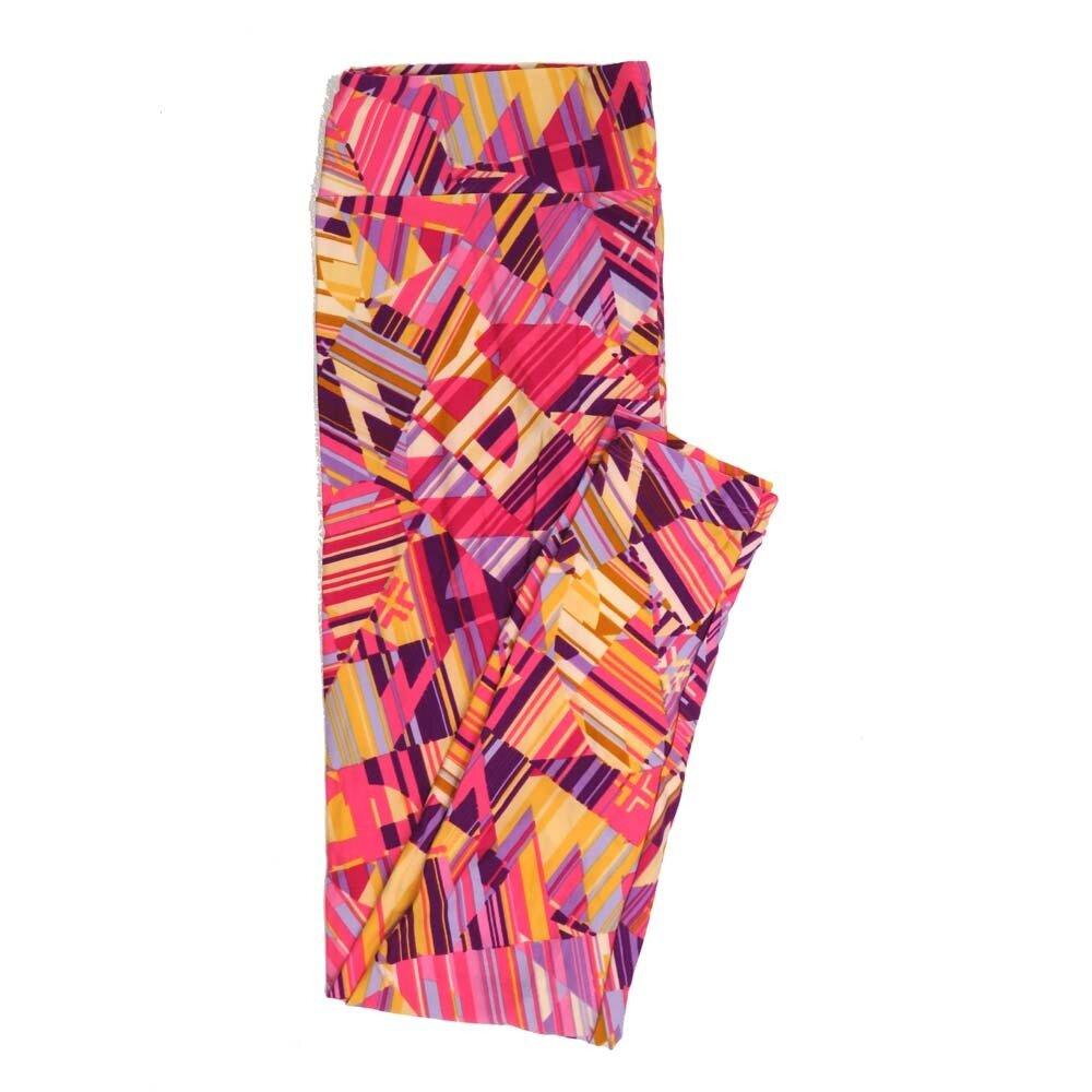 LuLaRoe Tall Curvy TC Geometric Buttery Soft Womens Leggings fits Adults sizes 12-18  TC-7358-K