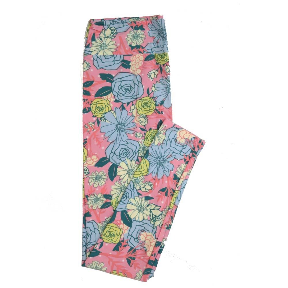 LuLaRoe Tall Curvy TC Floral Buttery Soft Womens Leggings fits Adults sizes 12-18  TC-7361-N