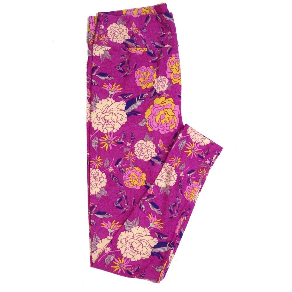LuLaRoe Tall Curvy TC Floral Buttery Soft Womens Leggings fits Adults sizes 12-18  TC-7361-Q