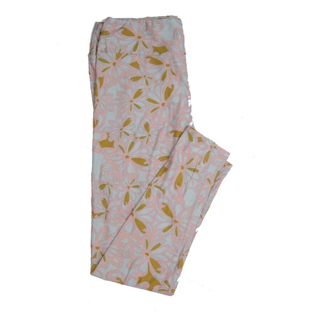 LuLaRoe Tall Curvy TC Floral Buttery Soft Womens Leggings fits Adults sizes 12-18  TC-7362-E