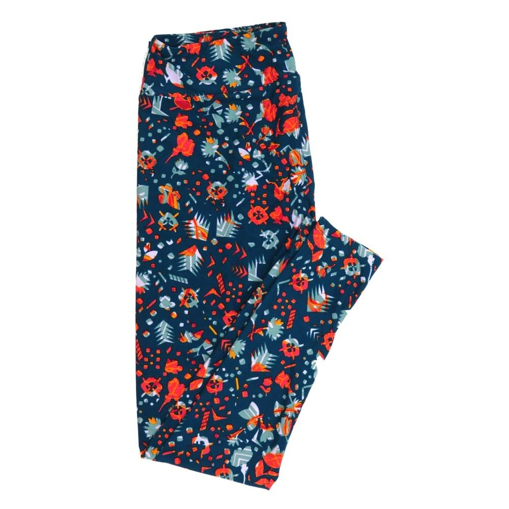 LuLaRoe Tall Curvy TC Floral Buttery Soft Womens Leggings fits Adults sizes 12-18  TC-7362-F