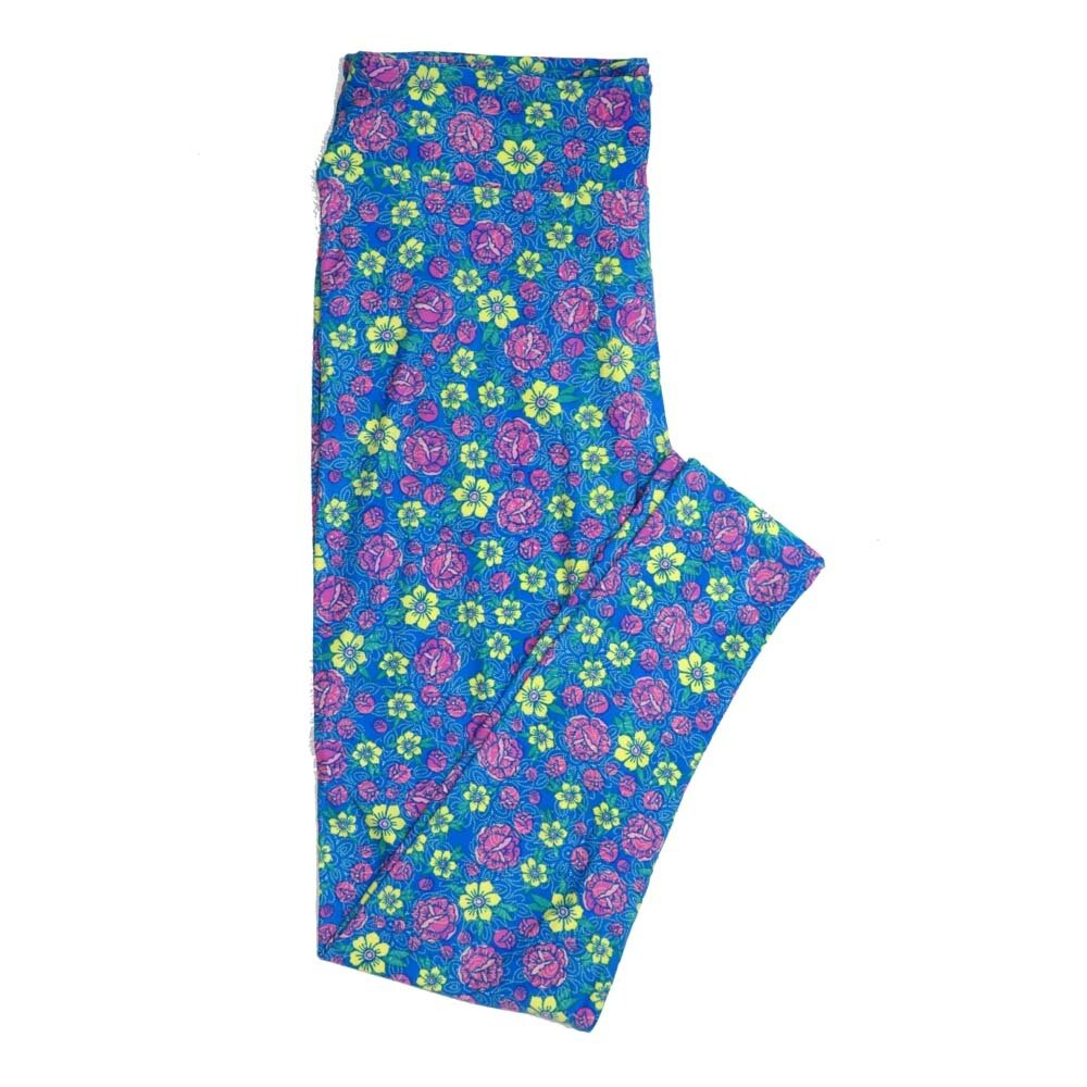 LuLaRoe Tall Curvy TC Floral Buttery Soft Womens Leggings fits Adults sizes 12-18  TC-7362-G