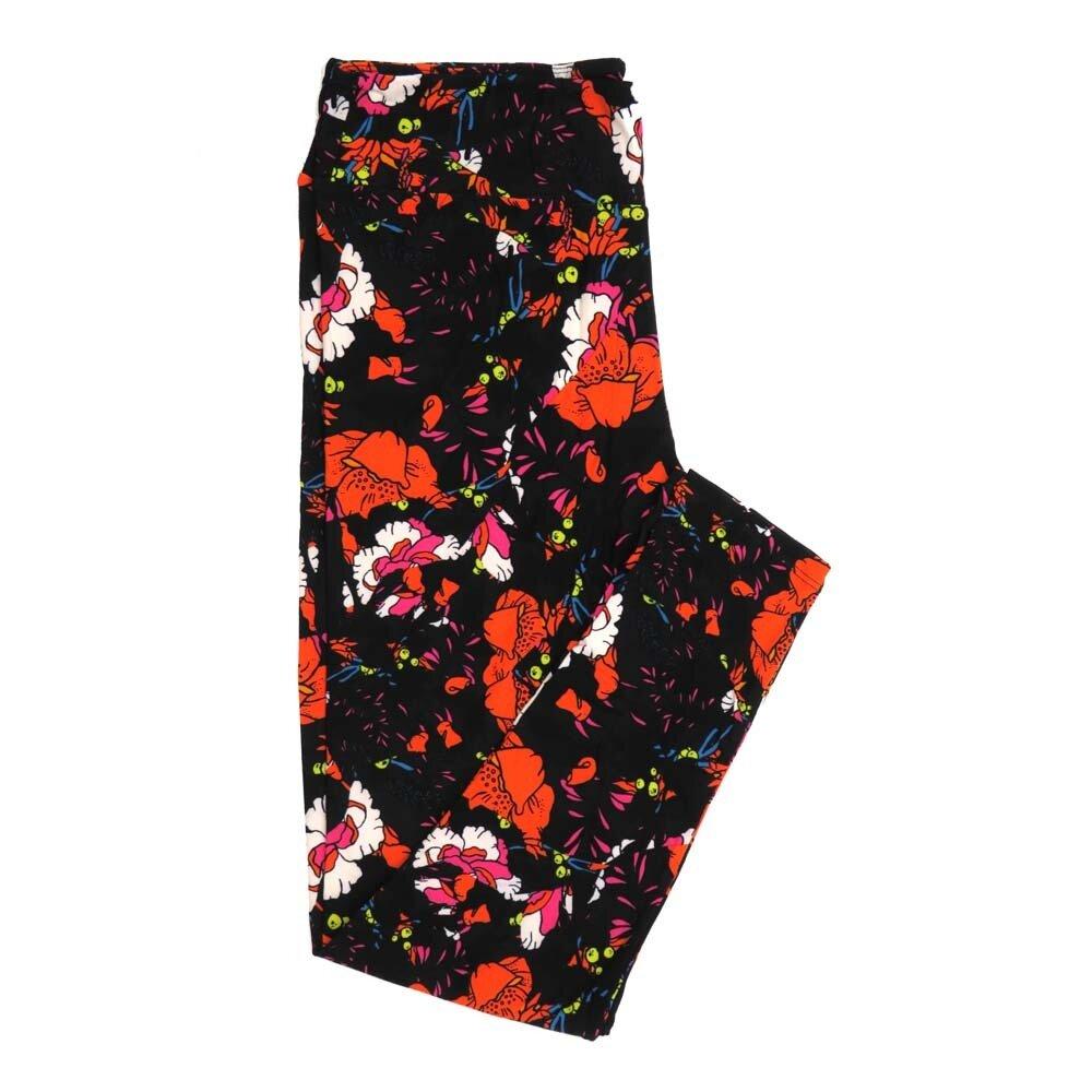 LuLaRoe Tall Curvy TC Floral Buttery Soft Womens Leggings fits Adults sizes 12-18  TC-7362-I