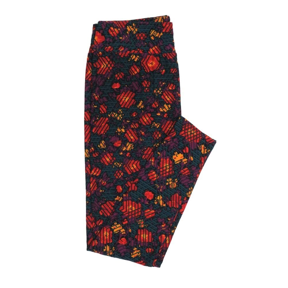 LuLaRoe Tall Curvy TC Floral Buttery Soft Womens Leggings fits Adults sizes 12-18  TC-7362-N