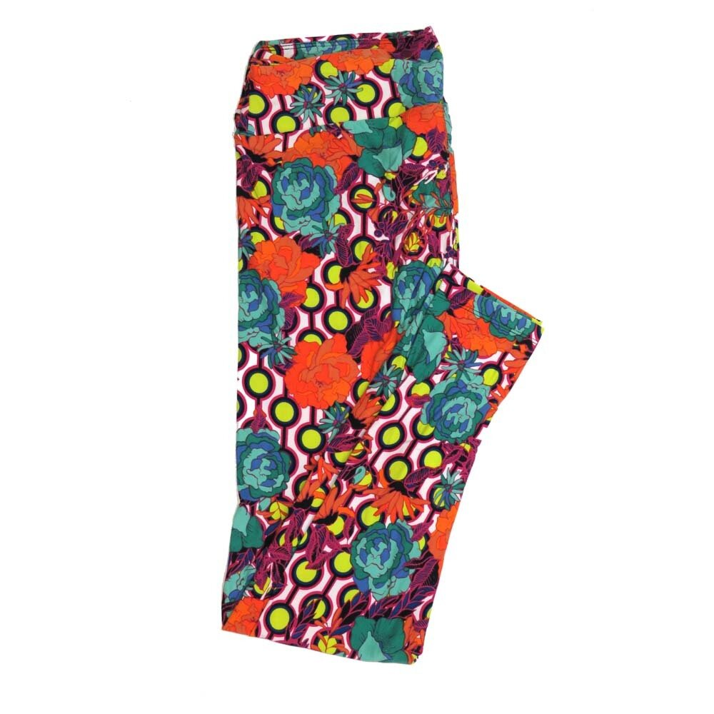 LuLaRoe Tall Curvy TC Floral Buttery Soft Womens Leggings fits Adults sizes 12-18  TC-7362-O