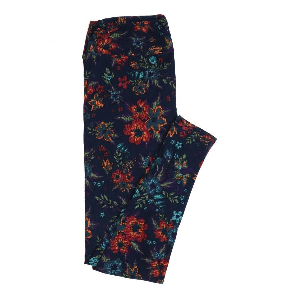 LuLaRoe Tall Curvy TC Floral Buttery Soft Womens Leggings fits Adults sizes 12-18  TC-7362-R