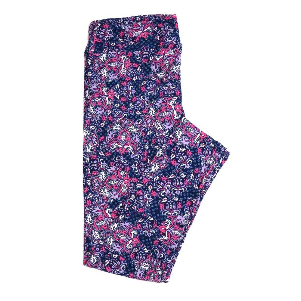 LuLaRoe Tall Curvy TC Floral Buttery Soft Womens Leggings fits Adults sizes 12-18  TC-7362-S