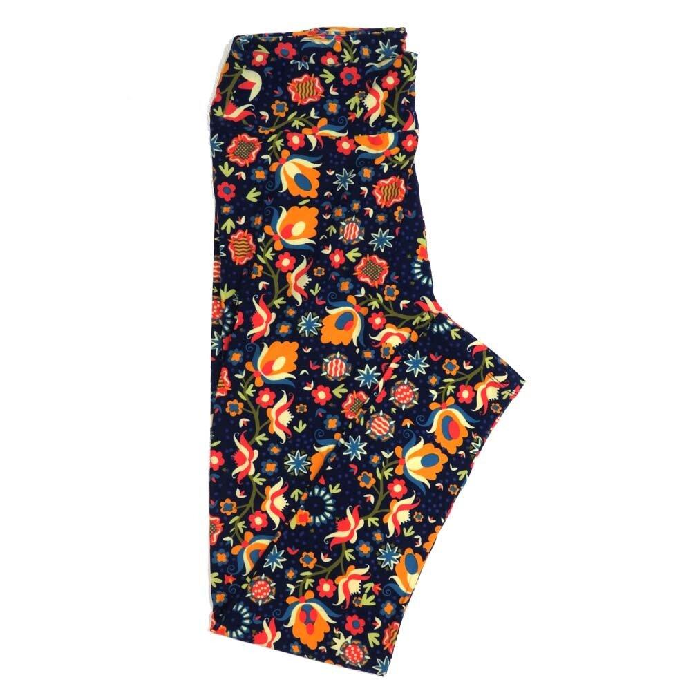 LuLaRoe Tall Curvy TC Floral Buttery Soft Womens Leggings fits Adults sizes 12-18  TC-7362-V