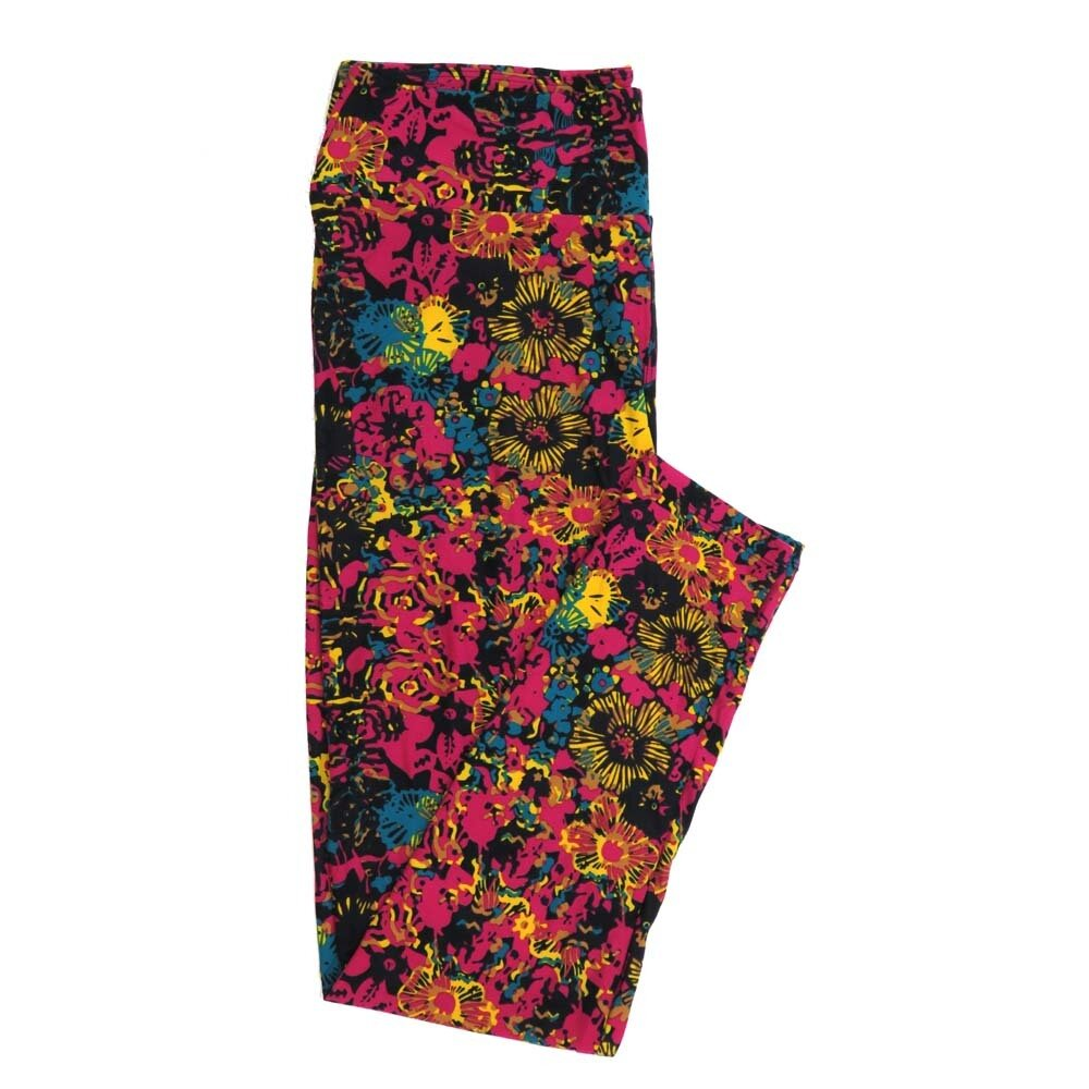 LuLaRoe Tall Curvy TC Floral Buttery Soft Womens Leggings fits Adults sizes 12-18  TC-7362-W