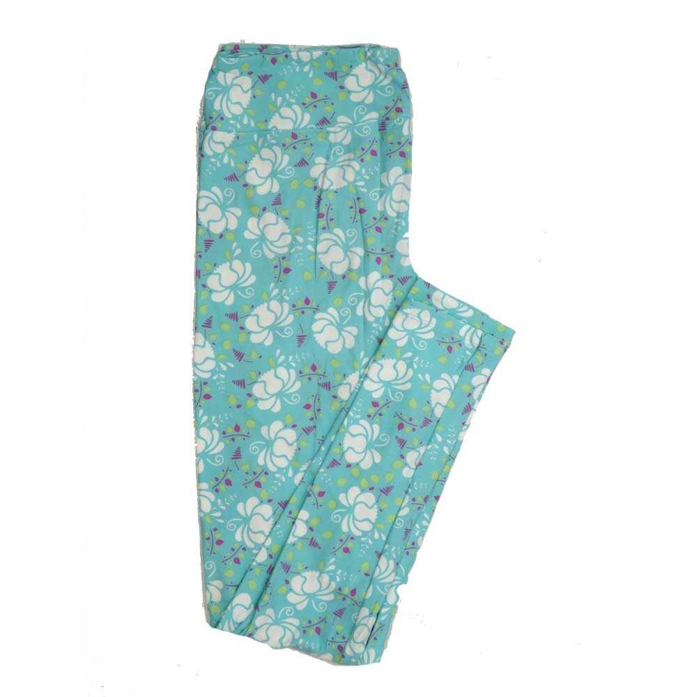LuLaRoe Tall Curvy TC Floral Buttery Soft Womens Leggings fits Adults sizes 12-18  TC-7362-X