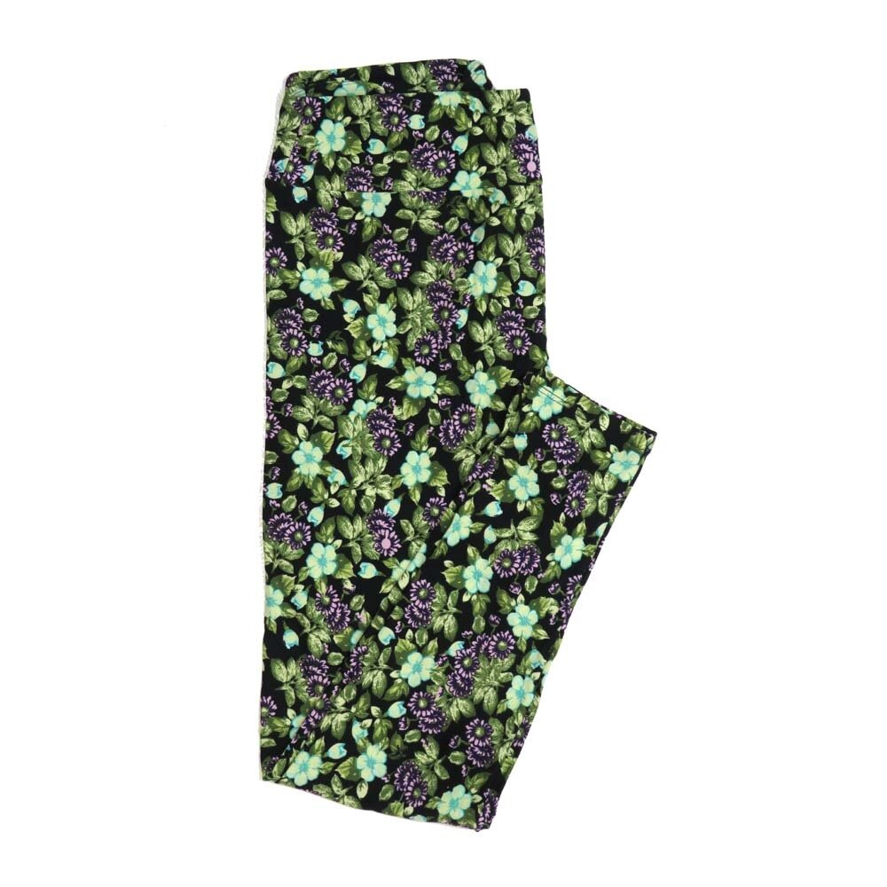 LuLaRoe Tall Curvy TC Floral Buttery Soft Womens Leggings fits Adults sizes 12-18  TC-7362-Y