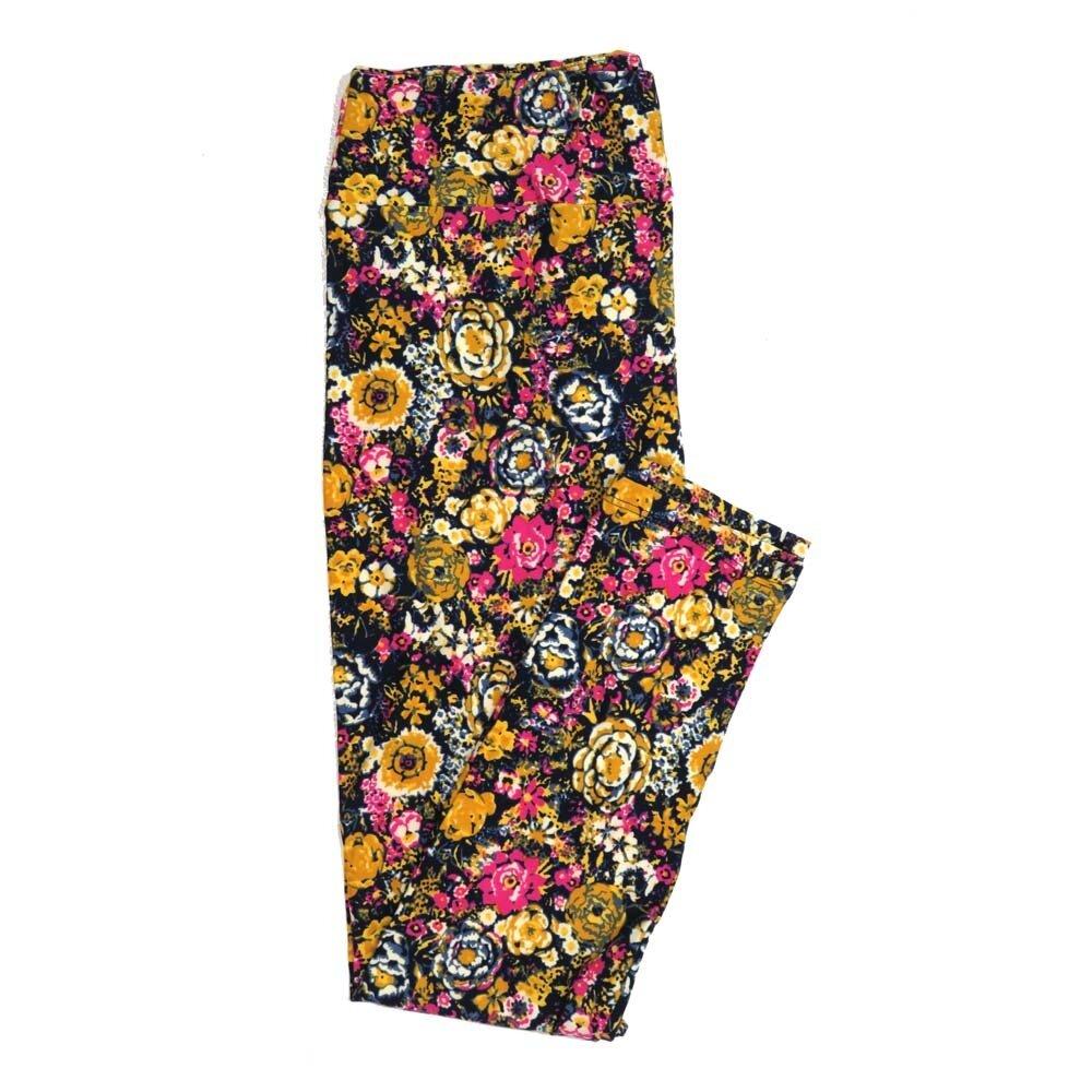 LuLaRoe Tall Curvy TC Floral Buttery Soft Womens Leggings fits Adults sizes 12-18  TC-7362-Z