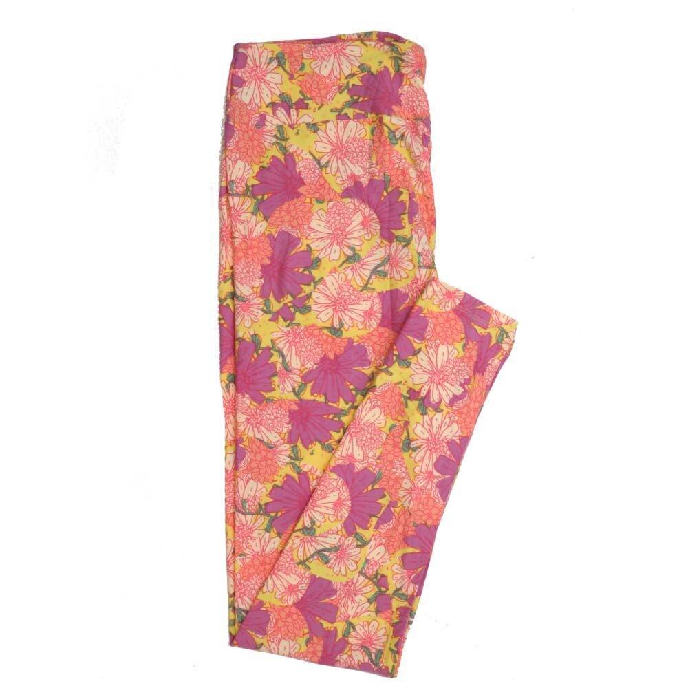 LuLaRoe Tall Curvy TC Floral Buttery Soft Womens Leggings fits Adults sizes 12-18  TC-7363-A
