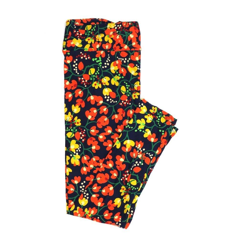 LuLaRoe Tall Curvy TC Floral Buttery Soft Womens Leggings fits Adults sizes 12-18  TC-7363-B