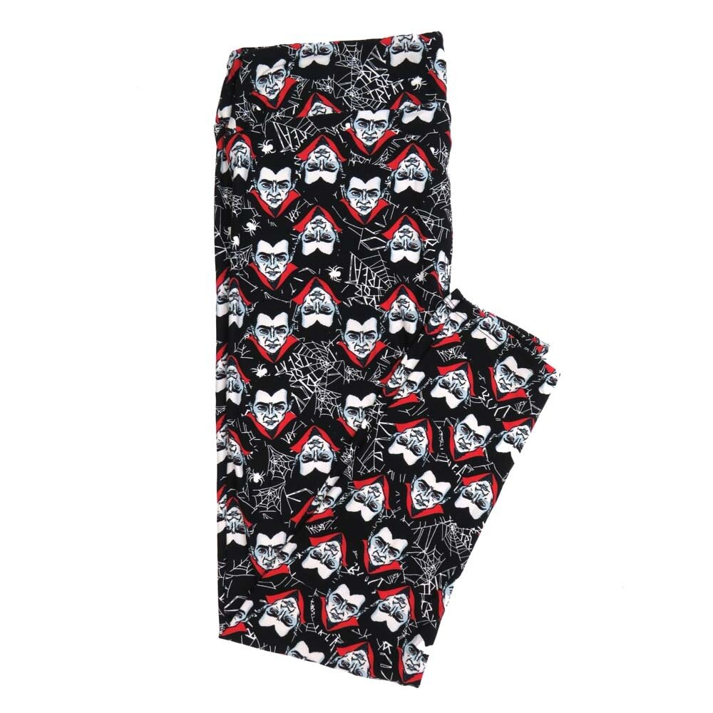 LuLaRoe TCTWO TC2 Halloween Spooky Count Dracula Nosfaratu Spider Webs Buttery Soft Womens Leggings fits Adults sizes 18-26  TCTWO-9040-A