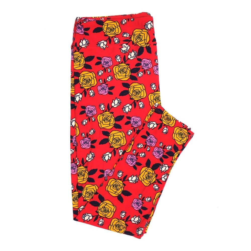 LuLaRoe TCTWO TC2 Roses Buttery Soft Womens Leggings fits Adults sizes 18-26  TCTWO-9040-P