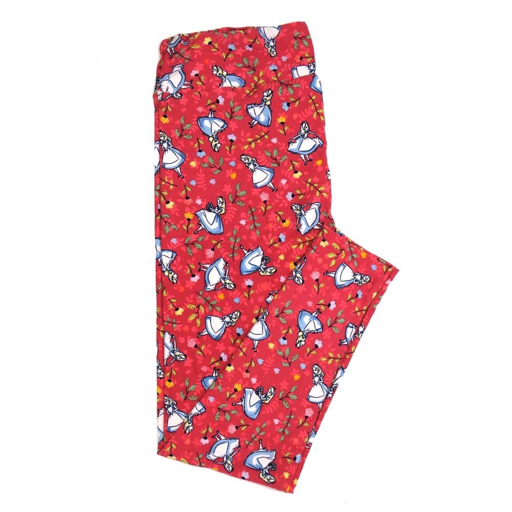 LuLaRoe TCTWO TC2 Disney Alice in Wonderland Buttery Soft Womens Leggings fits Adults sizes 18-26  TCTWO-9041-H
