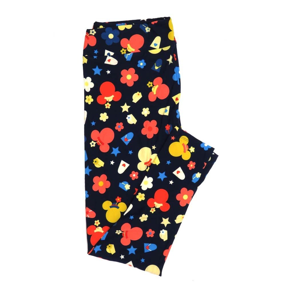 LuLaRoe TCTWO TC2 Disney Minnie Mouse Daisy Stars Buttery Soft Womens Leggings fits Adults sizes 18-26  TCTWO-9041-M