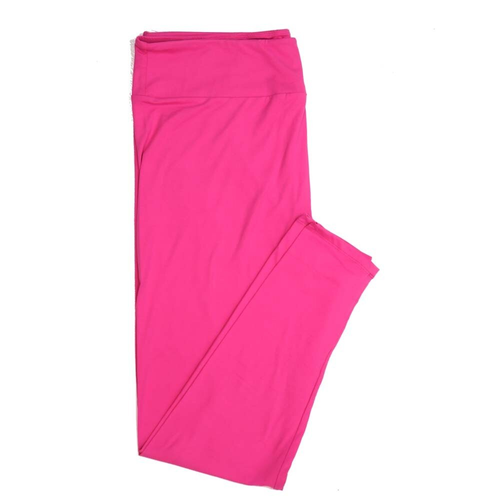 LuLaRoe TCTWO TC2 Solid Pink Buttery Soft Womens Leggings fits Adults sizes 18-26  TCTWO-9041-X