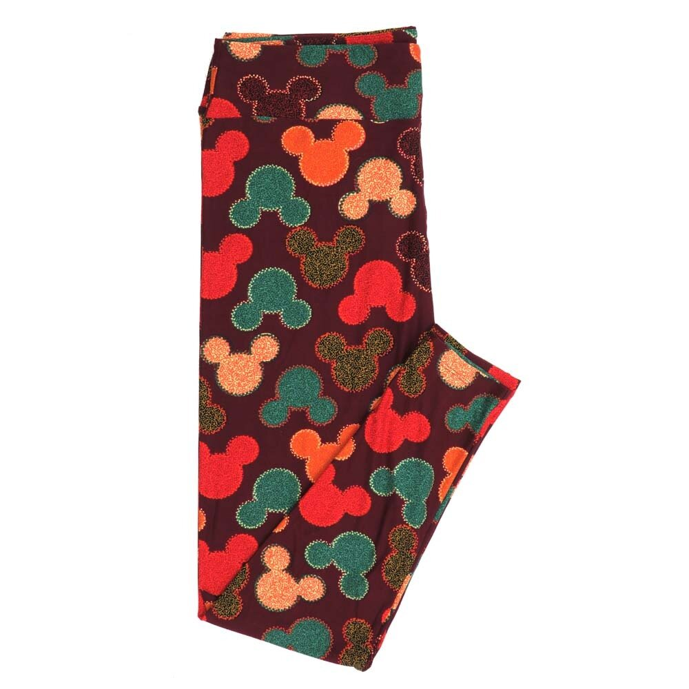 LuLaRoe TCTWO TC2 Disney Mickey and Minnine Mouse Micro Polka Dot Buttery Soft Womens Leggings fits Adults sizes 18-26  TCTWO-9042-A