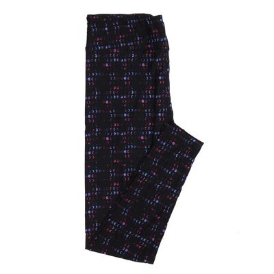 LuLaRoe One Size OS Black Purple Fucshia Phases of the Moon Polka Dot Buttery Soft Womens Leggings fit Adult sizes 2-10  OS-4312-4