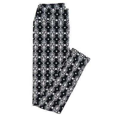 LuLaRoe One Size OS Black White Gods Eye Geometric Stripe Buttery Soft Womens Leggings fit Adult sizes 2-10  OS-4361-AO-4