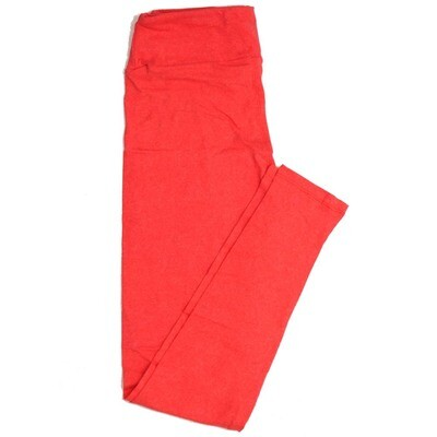 LuLaRoe One Size OS Solid Heathered Coral Buttery Soft Womens Leggings fit Adult sizes 2-10  OS-4371-BF-HEATHEREDCORAL