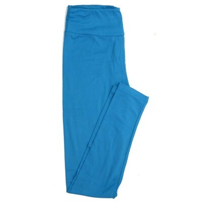 LuLaRoe One Size OS Solid Ocean Blue Buttery Soft Womens Leggings fit Adult sizes 2-10  OS-SOLID-BLUE-257527