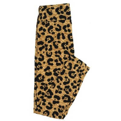 LuLaRoe One Size OS Brown Black Jaguar Animal Print Buttery Soft Womens Leggings fit Adult sizes 2-10  OS-4337-6