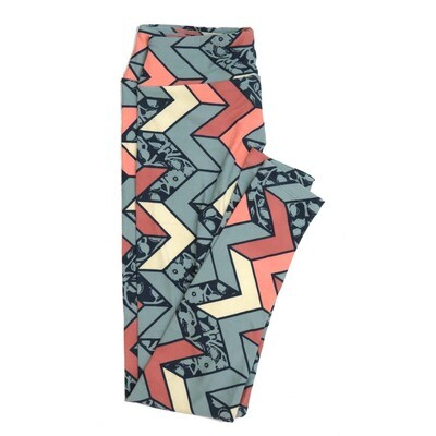 LuLaRoe One Size OS Floral Stripes Zig Zags Chevrons Buttery Soft Womens Leggings fit Adult sizes 2-10  OS-4351-AZ