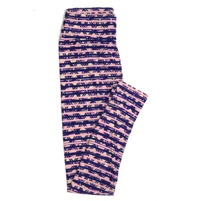 LuLaRoe One Size OS Stripes Zig Zags Chevrons Buttery Soft Womens Leggings fit Adult sizes 2-10  OS-4351-BG