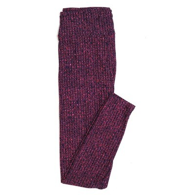 LuLaRoe One Size OS Purple Pink Black Muted Stripe Geometric Buttery Soft Womens Leggings fit Adult sizes 2-10  OS-4336-6