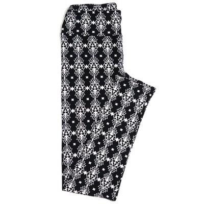 LuLaRoe One Size OS Black and White Diamond Stripe Geometric Buttery Soft Womens Leggings fit Adult sizes 2-10  OS-4358-AM