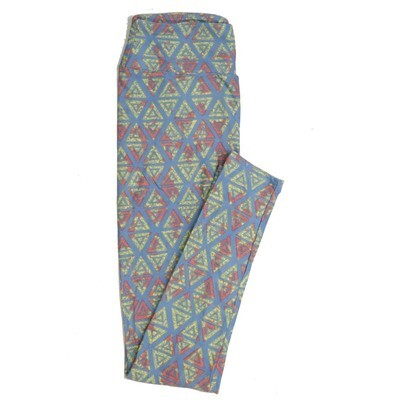 LuLaRoe One Size OS Geometric Buttery Soft Womens Leggings fit Adult sizes 2-10  OS-4372-AW