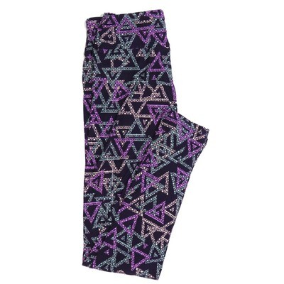 LuLaRoe One Size OS Geometric Buttery Soft Womens Leggings fit Adult sizes 2-10  OS-4372-AT