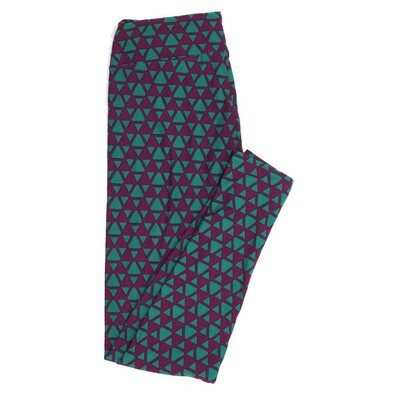 LuLaRoe One Size OS Geometric Buttery Soft Womens Leggings fit Adult sizes 2-10  OS-4372-AS
