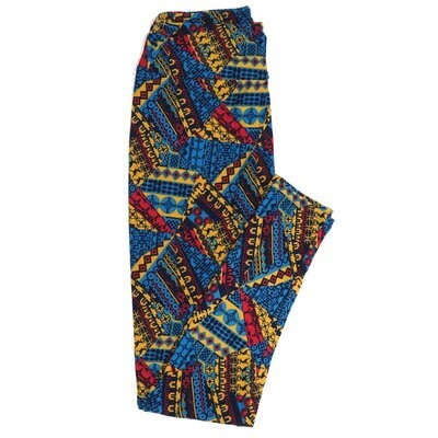 LuLaRoe One Size OS Geometric Buttery Soft Womens Leggings fit Adult sizes 2-10  OS-4372-AN