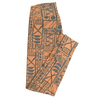LuLaRoe One Size OS Geometric Buttery Soft Womens Leggings fit Adult sizes 2-10  OS-4371-BB-2
