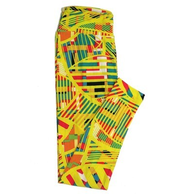 LuLaRoe One Size OS Geometric Buttery Soft Womens Leggings fit Adult sizes 2-10  OS-4371-AW-2
