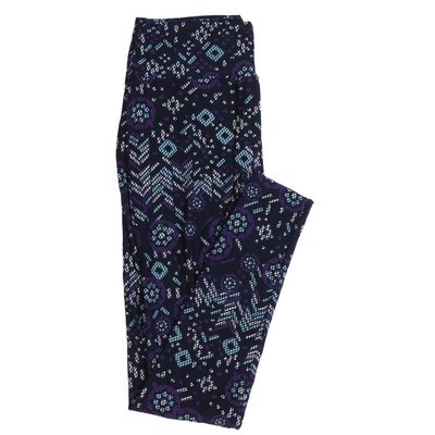 LuLaRoe One Size OS Geometric Buttery Soft Womens Leggings fit Adult sizes 2-10  OS-4371-AT