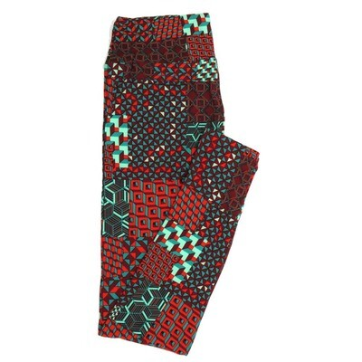 LuLaRoe One Size OS Geometric Buttery Soft Womens Leggings fit Adult sizes 2-10  OS-4371-AL