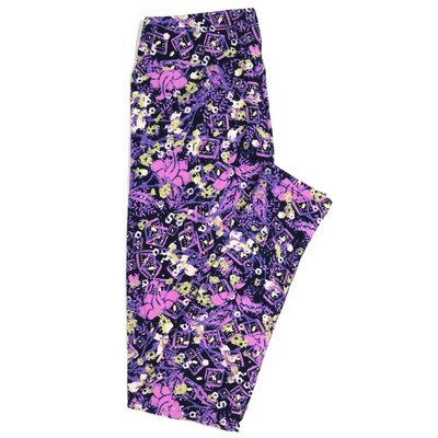 LuLaRoe One Size OS Geometric Buttery Soft Womens Leggings fit Adult sizes 2-10  OS-4371-AB