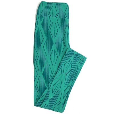 LuLaRoe One Size OS Geometric Buttery Soft Womens Leggings fit Adult sizes 2-10  OS-4371-AA