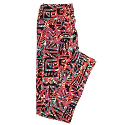 LuLaRoe One Size OS Geometric Buttery Soft Womens Leggings fit Adult sizes 2-10  OS-4370-BE-2