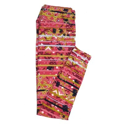 LuLaRoe One Size OS Geometric Buttery Soft Womens Leggings fit Adult sizes 2-10  OS-4370-BD-2