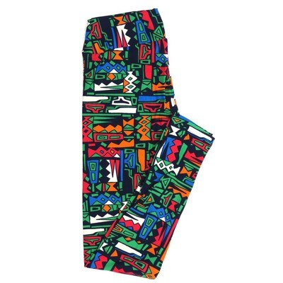 LuLaRoe One Size OS Geometric Buttery Soft Womens Leggings fit Adult sizes 2-10  OS-4370-BB