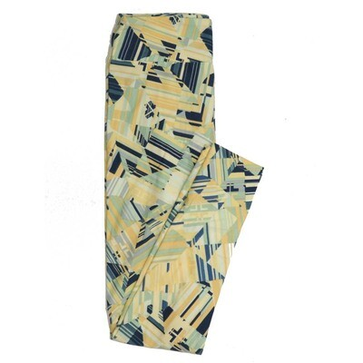 LuLaRoe One Size OS Geometric Buttery Soft Womens Leggings fit Adult sizes 2-10  OS-4370-AY-2